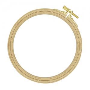 Пяльцы круглые буковые, d=130 мм, выс. обода 8 мм