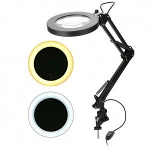 Светодиодная настольная лампа-лупа USB