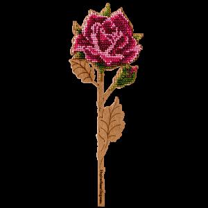 """Набор для вышивания бисером по дереву """"Роза"""" FLK-198"""