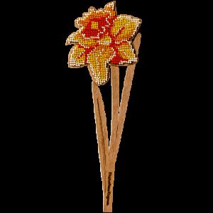 """Набор для вышивания бисером по дереву """"Нарцисс"""" FLK-199"""