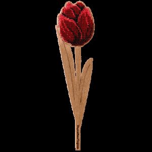 """Набор для вышивания бисером по дереву """"Тюльпан Бордо"""" FLK-201"""