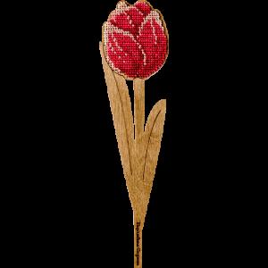 """Набор для вышивания бисером по дереву """"Красный тюльпан"""" FLK-203"""