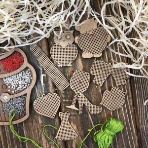 Набор заготовок для вышивания по дереву FLSW-001